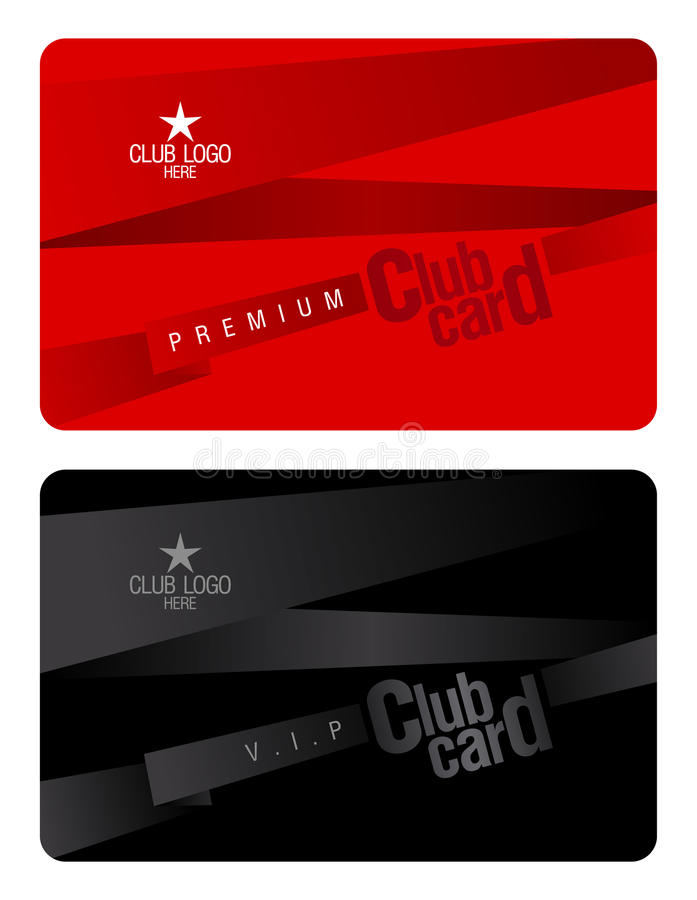 Club card design template. stock vector. Illustration of access ...