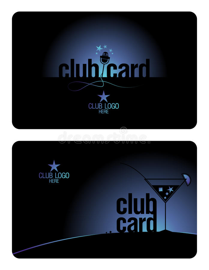 Great Download Club Card Design Template. Stock Vector. Image Of Member   23050121 Intended For Club Card Design