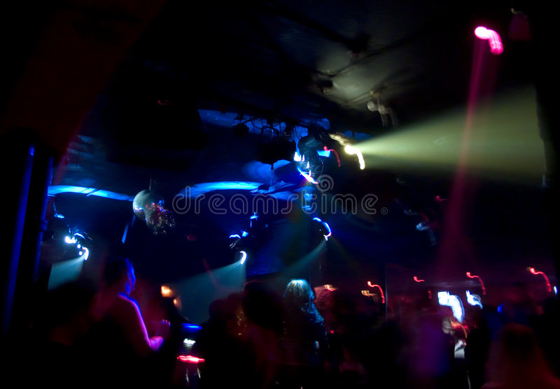 Club Crowd Abstract royalty free stock photo