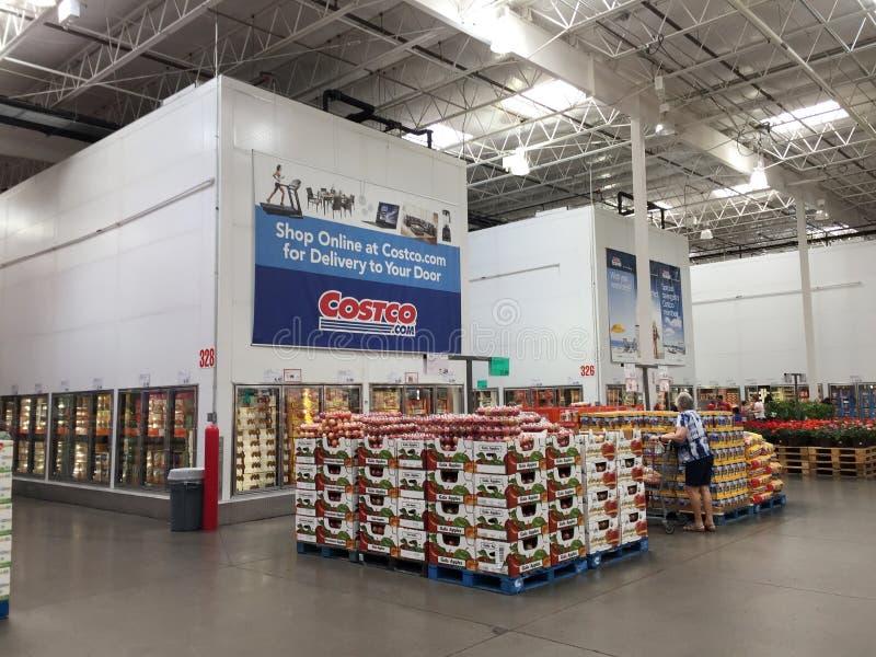 Club d'achats de vente en gros de Costco image libre de droits
