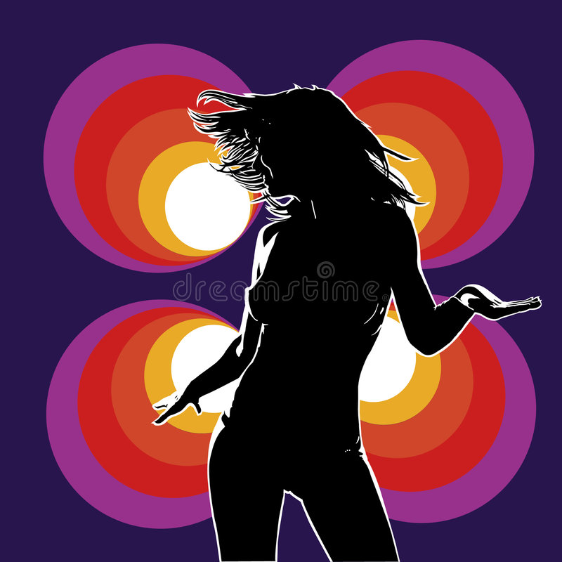 Download Club dancer 01 viol yell stock vector. Image of illustration - 8379607