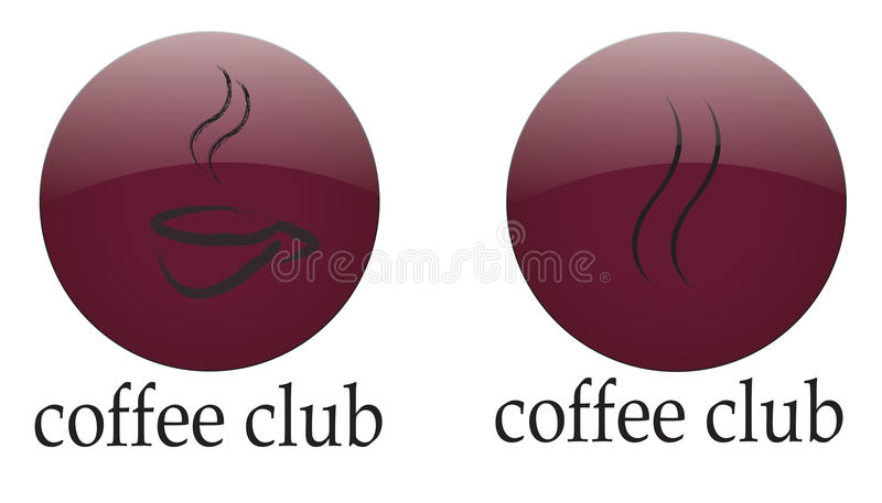 Club de café de logo illustration stock