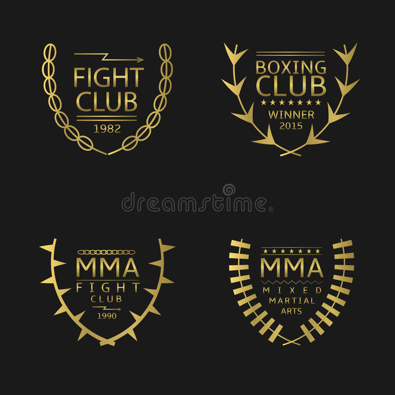 Club de combat illustration stock