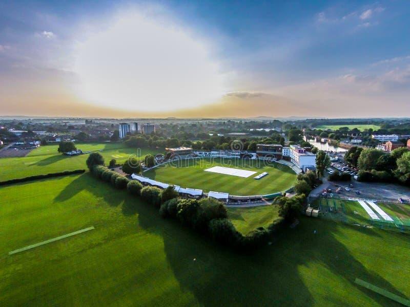 Club de cricket du comté de Worcestershire images libres de droits