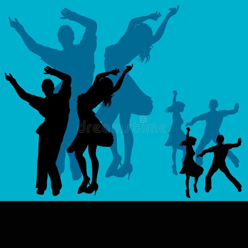Club de danza stock de ilustración
