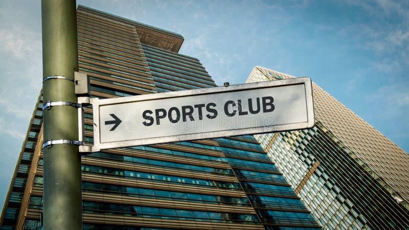 Club de deportes de la placa de calle fotografía de archivo libre de regalías
