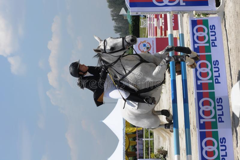 Club de gazon de Selangor de carnaval de cheval : Showjumping photographie stock