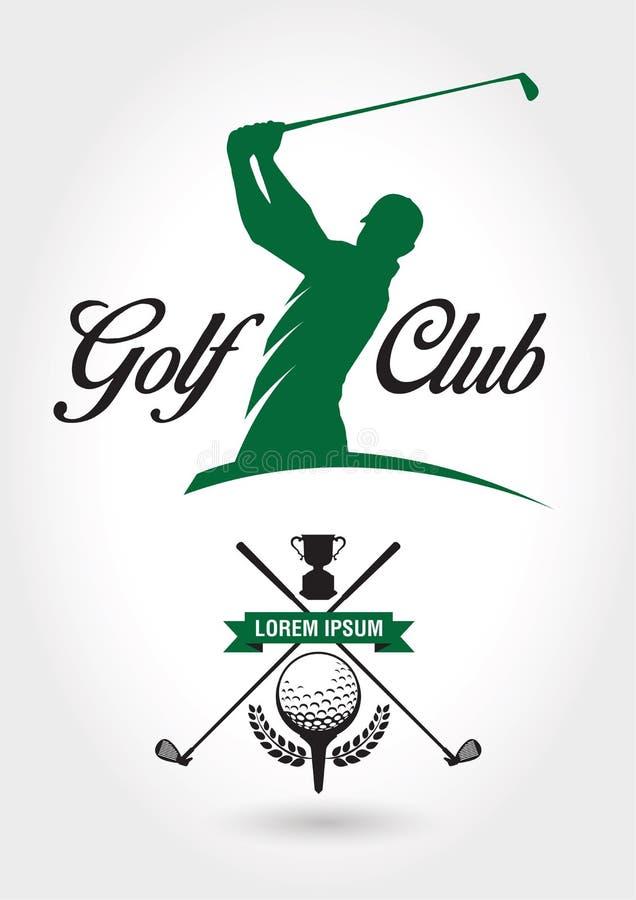 Club de golf Logo And Icon illustration de vecteur