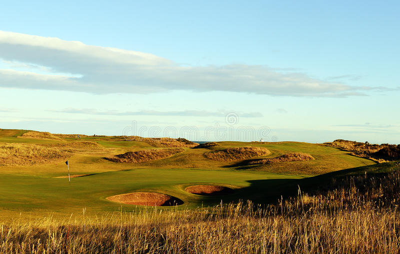 Club de golf royal d'Aberdeen, Balgownie, Aberdeen, Ecosse image stock