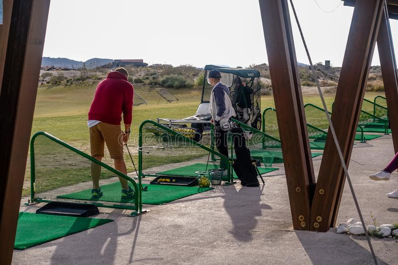 Club de golf de Vistabella en España imagenes de archivo