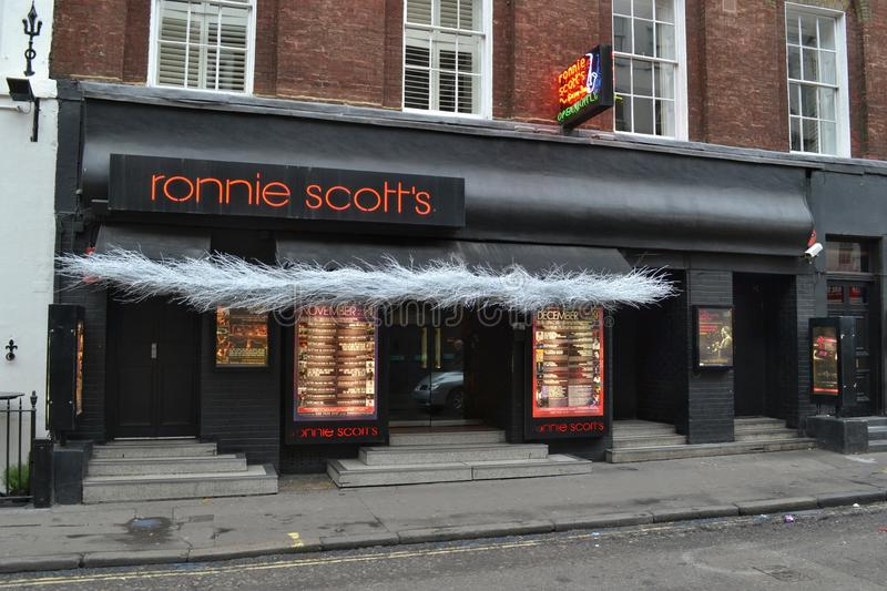 Club de jazz de Ronnie Scott photos libres de droits
