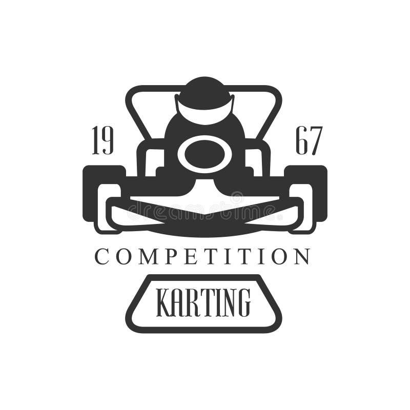 club de karting emballant la concurrence logo design template with rider noir et blanc en. Black Bedroom Furniture Sets. Home Design Ideas