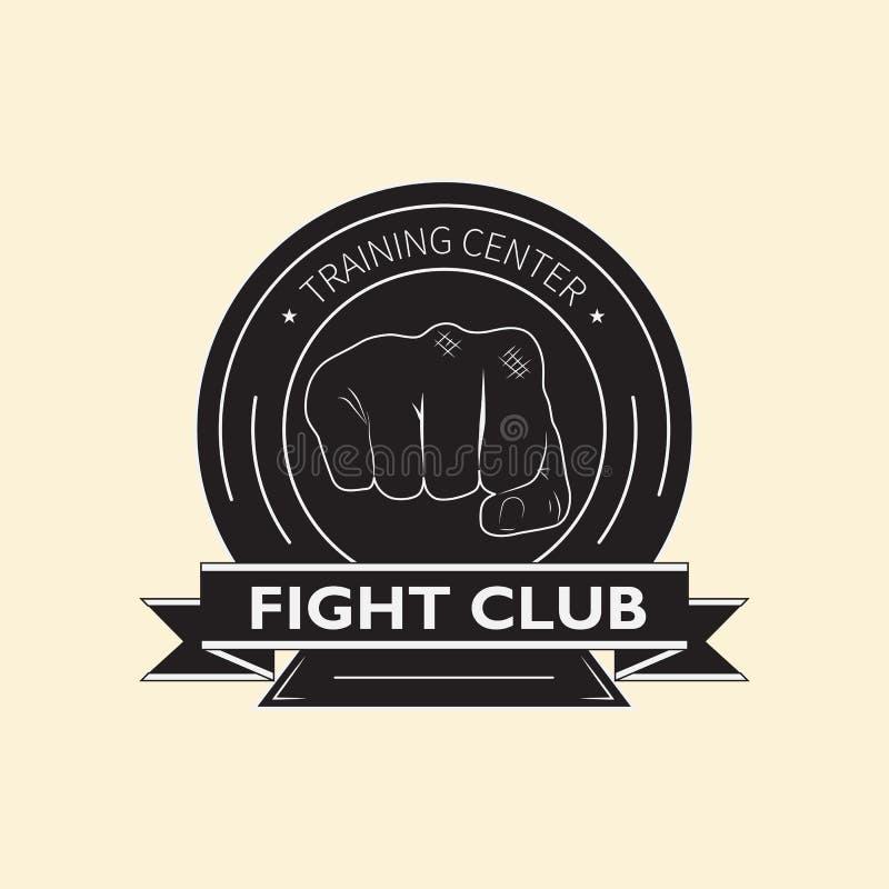 Club de la lucha del emblema stock de ilustración