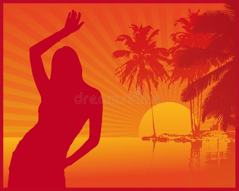 Club de la playa del verano stock de ilustración
