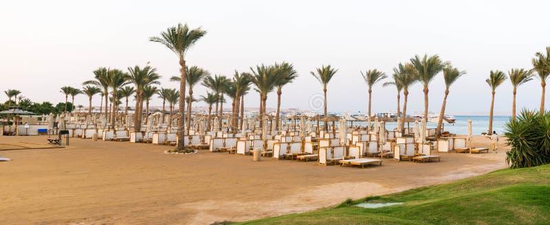 Club de la playa en un centro turístico en Egipto foto de archivo libre de regalías