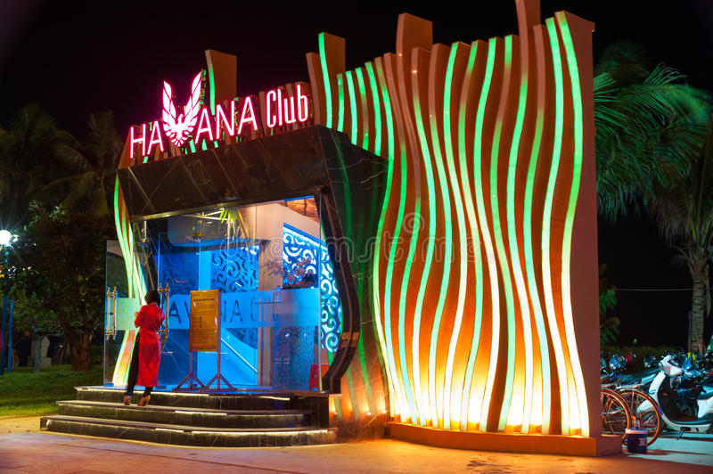 Club de Nigth dans Nha Trang, Vietnam photo libre de droits