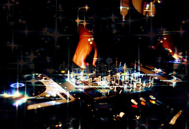 Club de noche de la música de DJ foto de archivo libre de regalías
