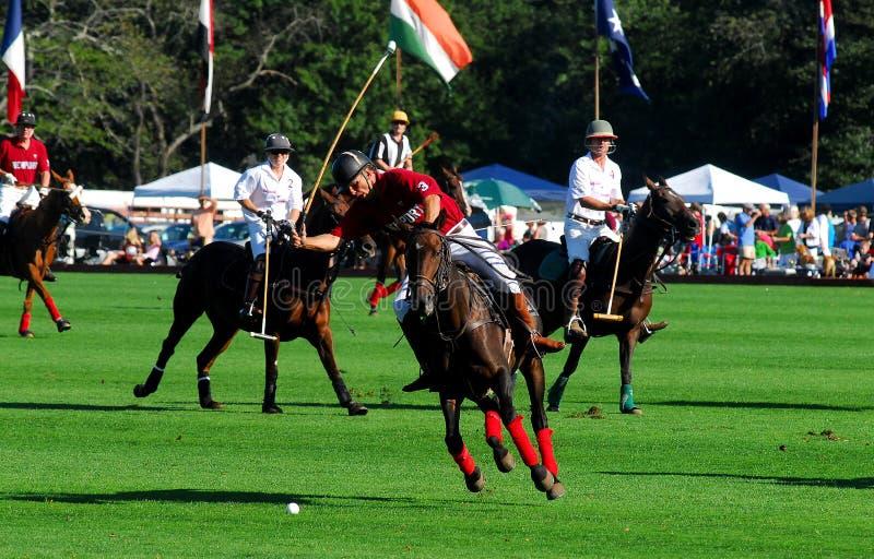 Club de polo du club v. Tiverton de polo de Newport photos stock