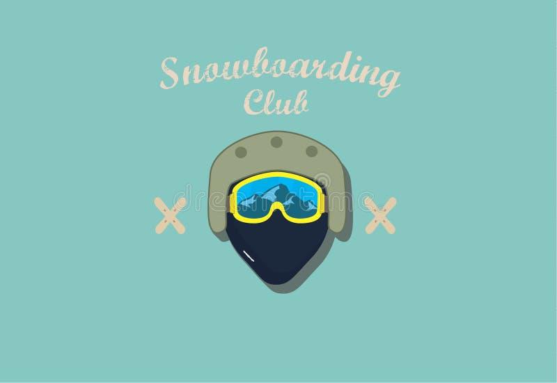 Club de snowboarding d'affiche photographie stock