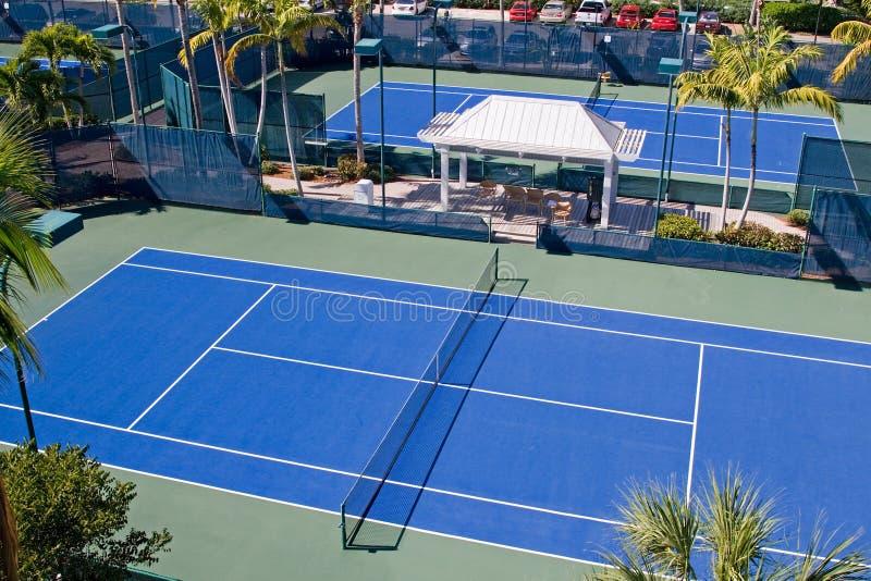 Club de tenis del centro turístico fotos de archivo