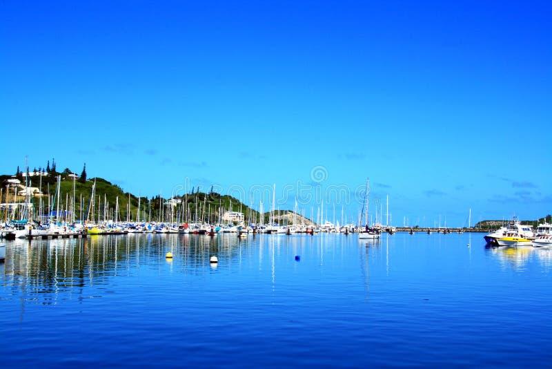 Club de yacht chez Noume Nouvelle-Calédonie image libre de droits