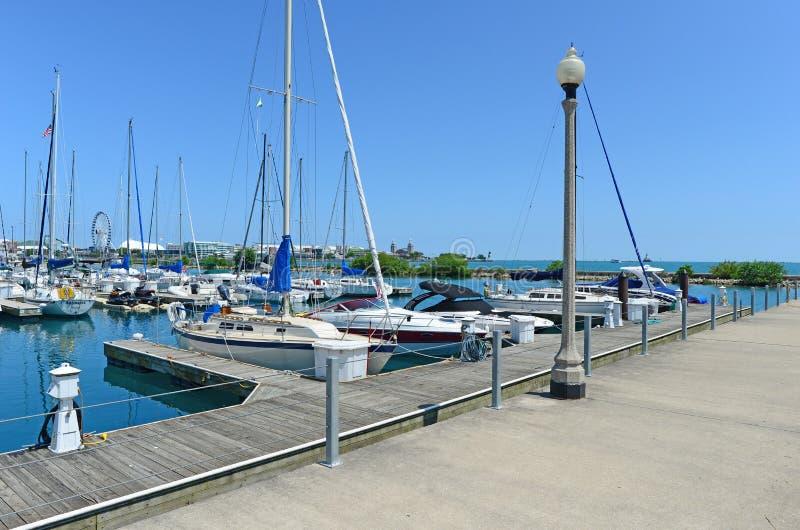 Club de yacht de Colombie Chicago images stock