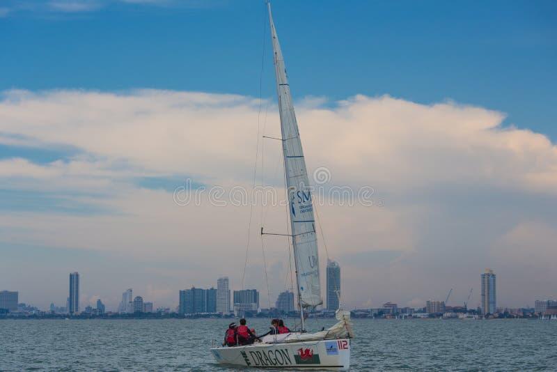 Club de yacht de marina d'océan photos libres de droits