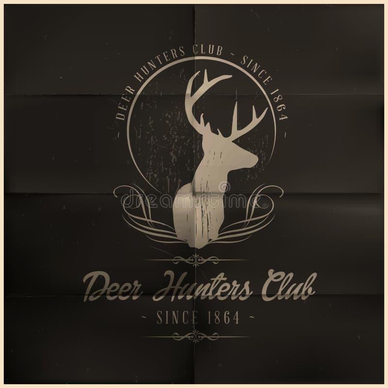 Club dei cacciatori dei cervi illustrazione di stock