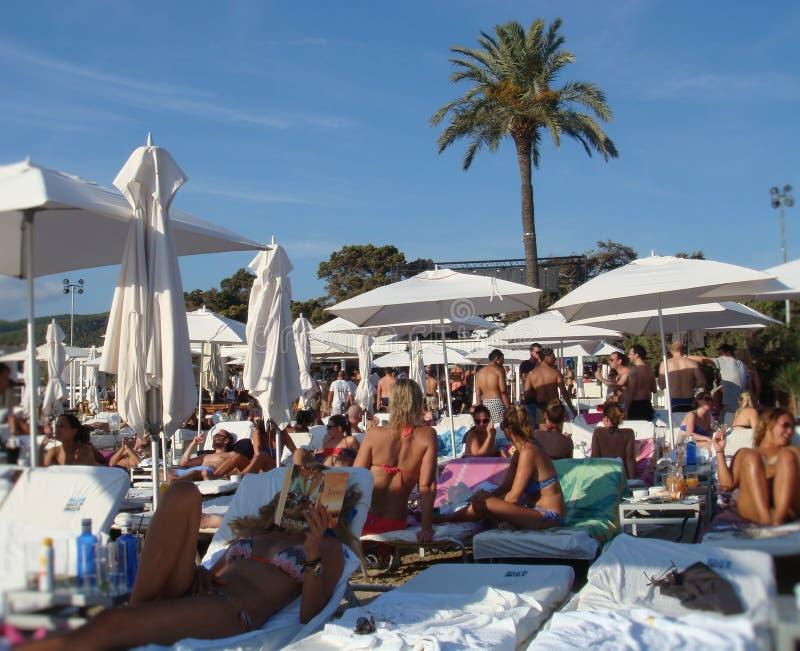Club del día en Ibiza imagen de archivo libre de regalías