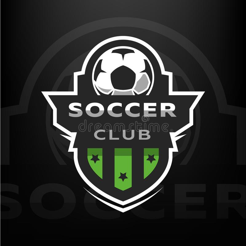 Club del fútbol, logotipo del deporte libre illustration