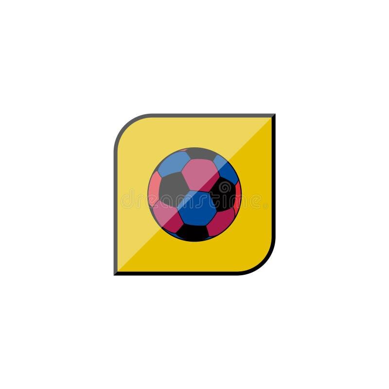 Club del fútbol del logotipo, emblema del balón de fútbol Escudo y bal del fútbol que vuela libre illustration
