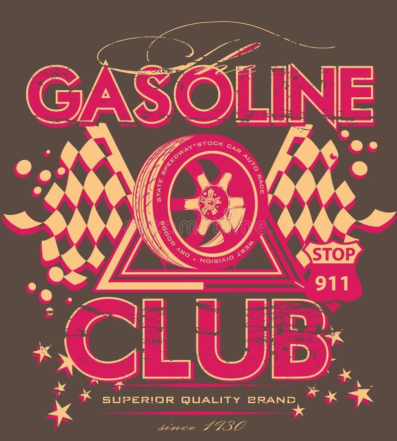 Club della benzina illustrazione vettoriale
