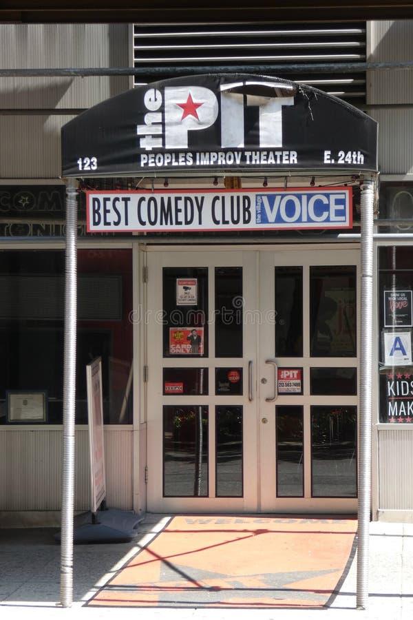 Club di commedia di New York fotografia stock libera da diritti
