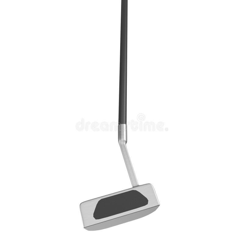 Club di golf del putter isolato su fondo bianco illustrazione di stock