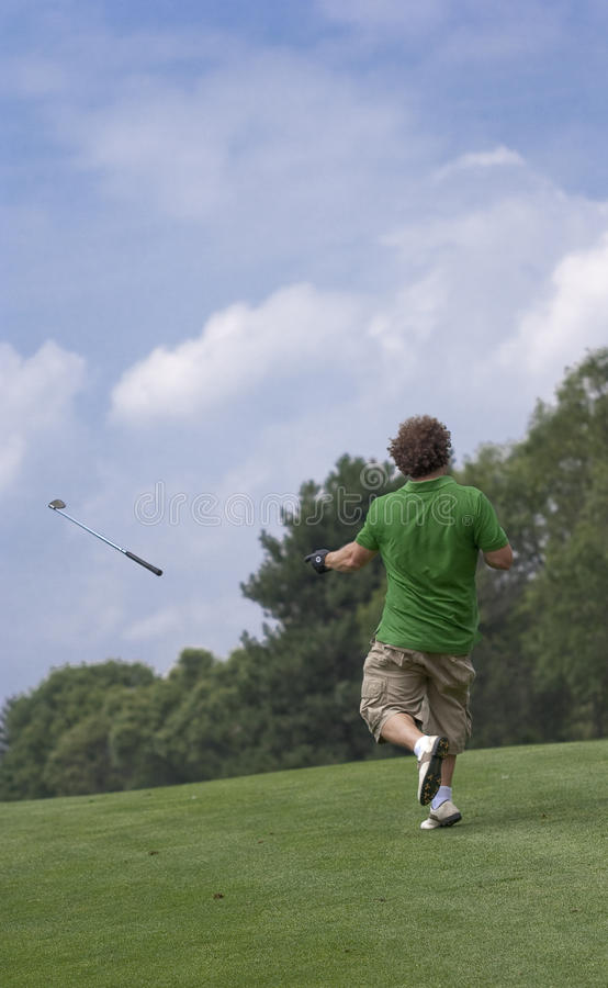 Club di golf di lancio fotografie stock libere da diritti