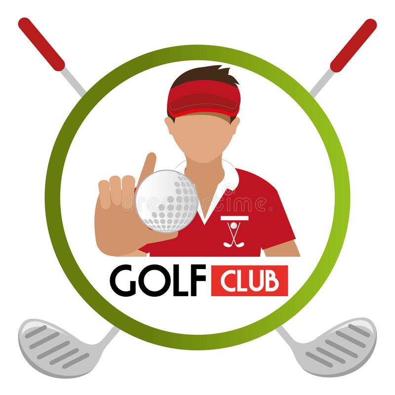 Club di golf di sport illustrazione di stock