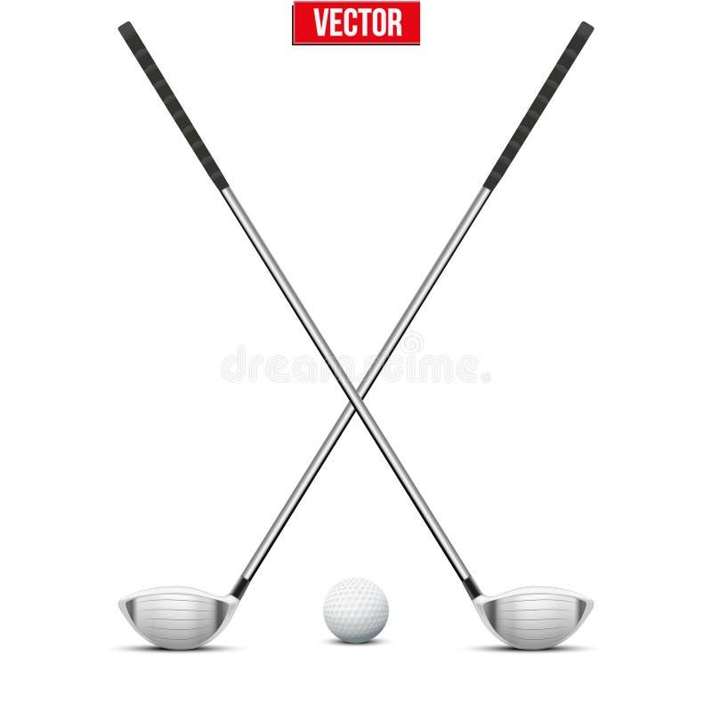 Club di golf e sfera Vettore illustrazione vettoriale