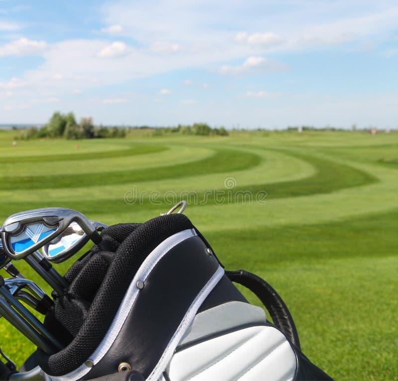 Club di golf nel golfbag fotografia stock libera da diritti
