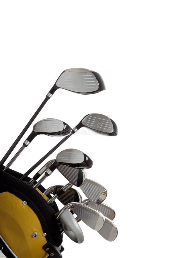 Club di golf su bianco fotografie stock libere da diritti