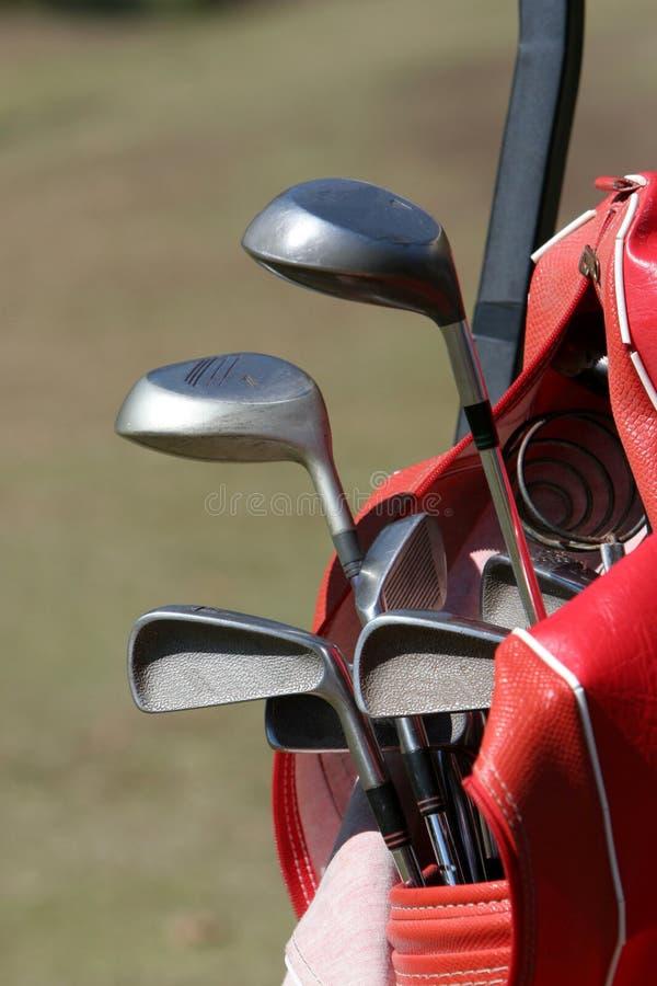 Club di golf sul carrello fotografie stock libere da diritti