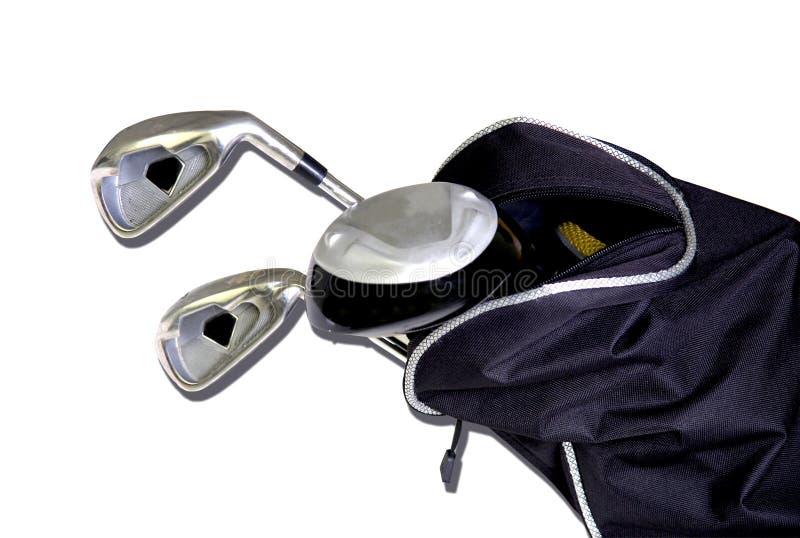 Club di golf in un sacchetto immagini stock libere da diritti