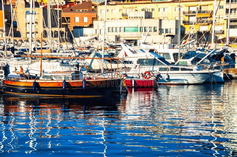 Club di lusso di navigazione da diporto in Catalogna fotografia stock libera da diritti