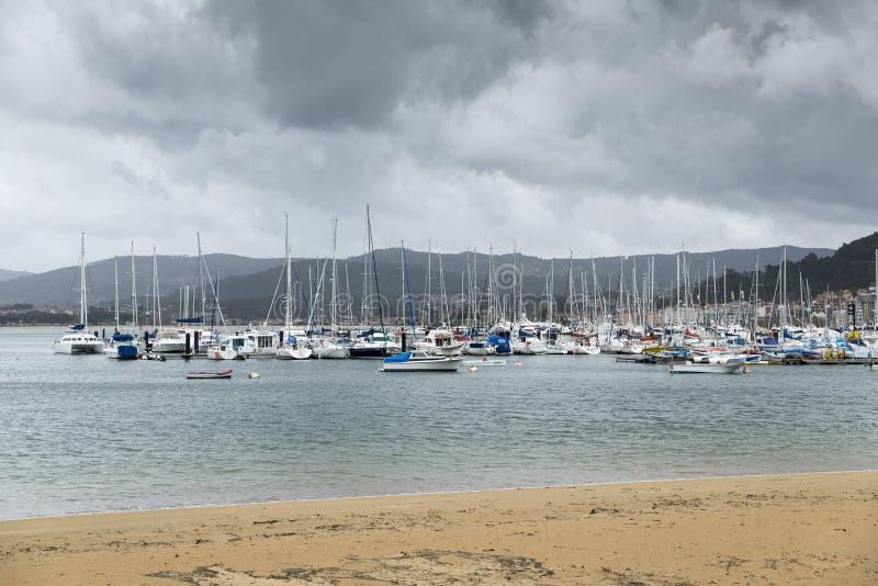 Club di navigazione da diporto a Baiona, Galizia, Spagna fotografia stock