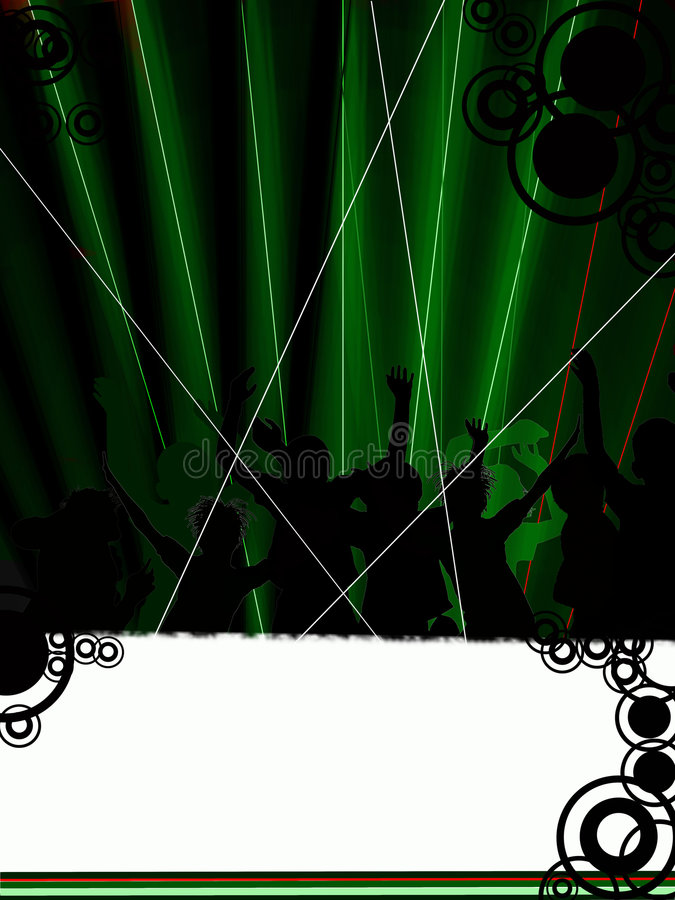 Download Club or disco stock illustration. Image of black, cutout - 9023704