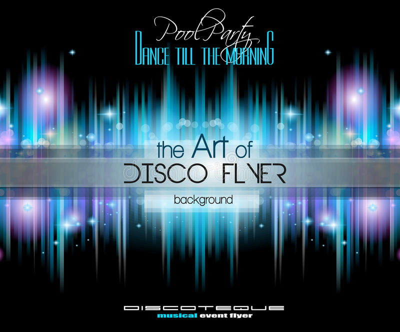 Club Disco Flyer Set with Music Elements and space for text vector illustration