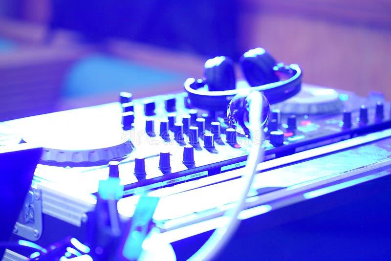 Dj mixer at a nightclub royalty free stock photo