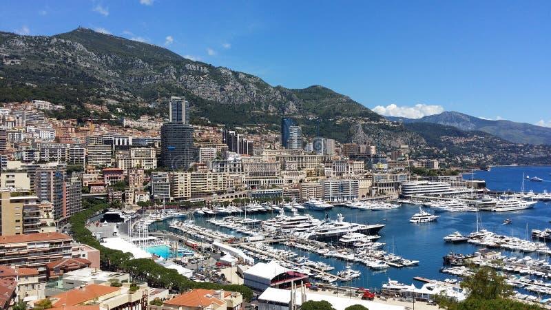 Club du Monaco Yatch Vues au palais du Monaco photos stock