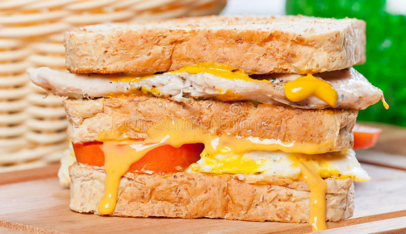 Club house chicken sandwich stock images