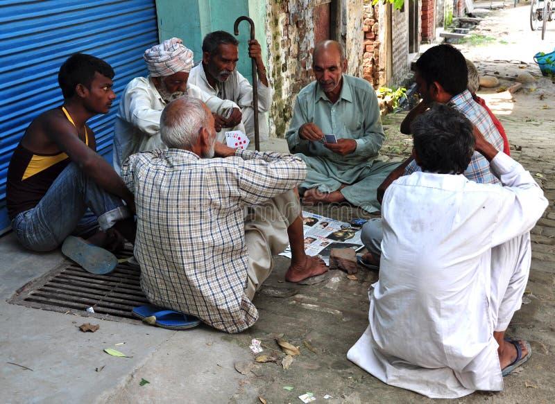 Club indio de la gente de la aldea fotografía de archivo