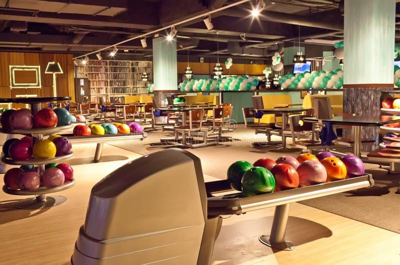 Club interno di bowling fotografia stock libera da diritti